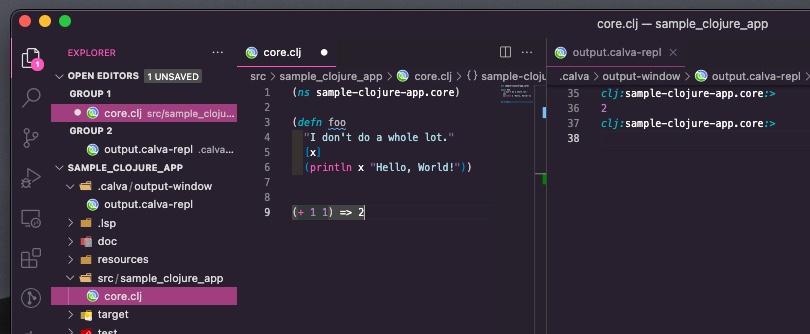 ファイルに書いたコードでREPLの稼働確認を実施する