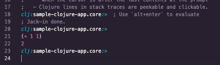 output.calva-replでREPLの稼働確認を実施する